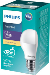 Philips Лампа LED 5W E27 3000K A55 PHILIPS