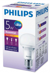 Philips Лампа LED 5W E27 3000K A60 FR PHILIPS